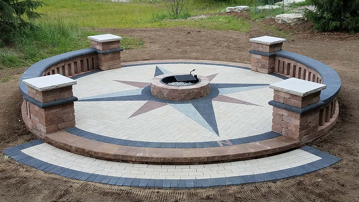Firepit and Custom Patio in Green Bay and Door County